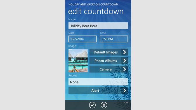 Buy Holiday and Vacation Countdown Widget - Microsoft Store en-TV