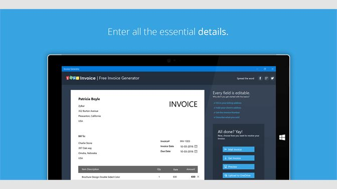 Get Free Invoice Generator Microsoft Store - Free invoice maker software online store builder