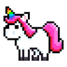 UNICORN Pixel Art Color by Number