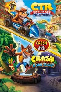 Carátula para el juego Crash Bandicoot Bundle - N. Sane Trilogy + CTR Nitro-Fueled de Xbox 360