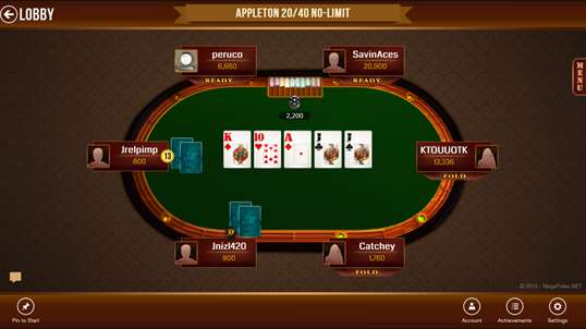 Mega Poker Texas Holdem for Windows 10 PC Free Download ...