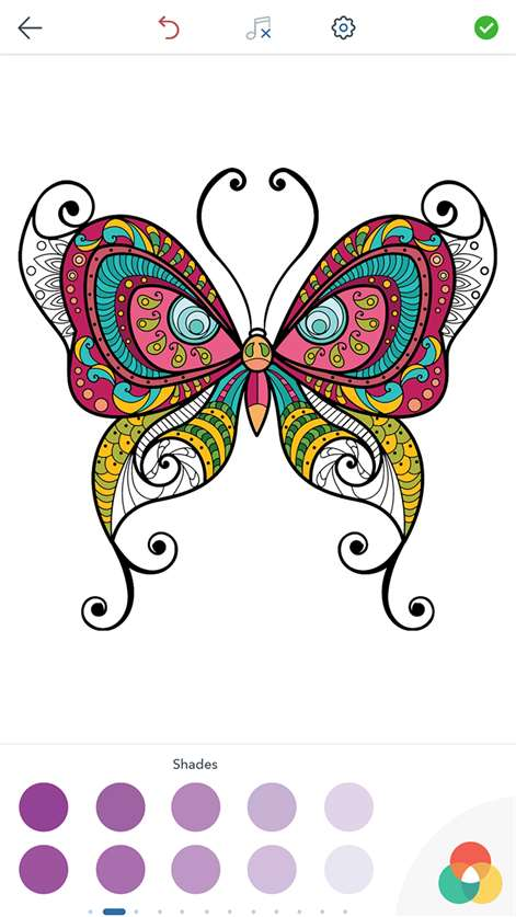 Screenshot Butterfly Coloring Book