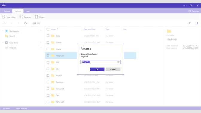 Get 9 ZIP - open rar, zip, 7zip, gzip - Microsoft Store