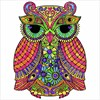 Owl Glitter Color by Number - Animals Coloring Book