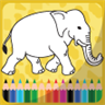 Coloring book for kids animals