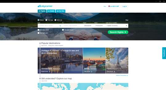 Skyscanner screenshot 1