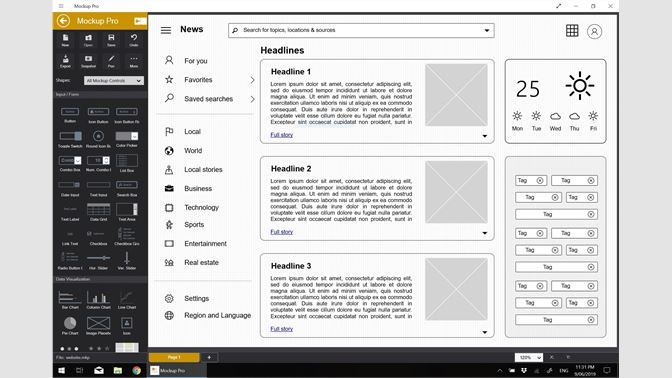 Buy Mockup Pro - Wireframe and Interface Design - Microsoft