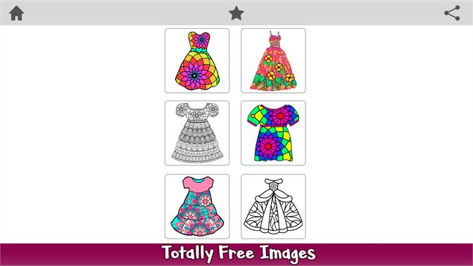 Get Girls Dress Color By Number - Fashion Coloring Book