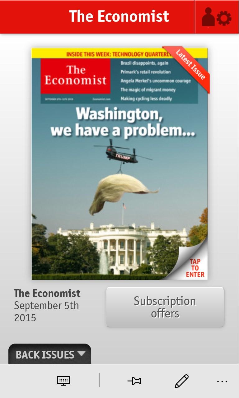 The Economist on Windows for Windows 10