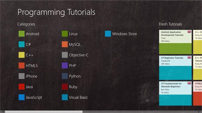 Get Programming Tutorials - Microsoft Store