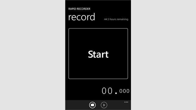 Get Rapid Recorder - Microsoft Store