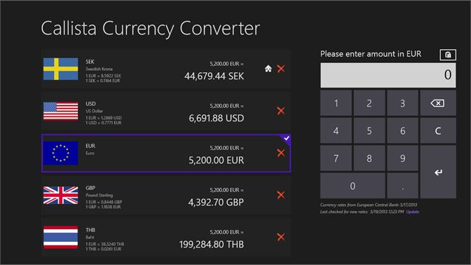 Baixar callista currency converter microsoft store pt br captura de tela callista currency converter in full screen landscape view stopboris Image collections