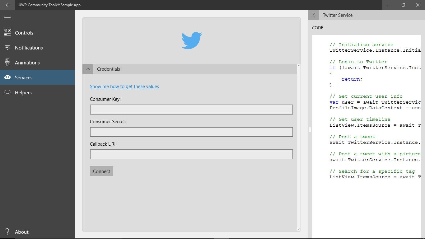 UWP Community Toolkit Sample App