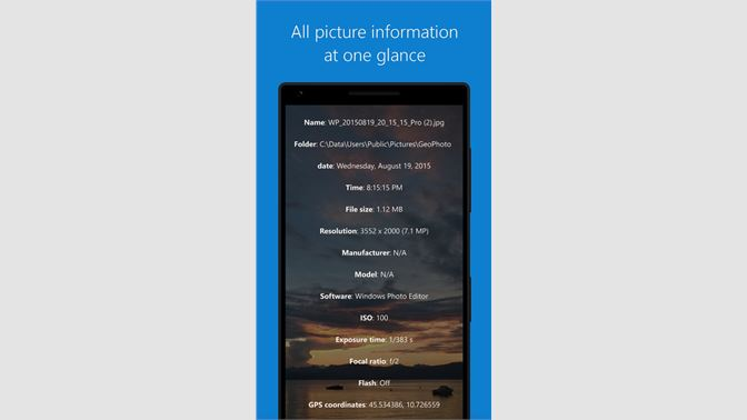 Get GeoPhoto - Geotag, Map & Slideshow - Microsoft Store