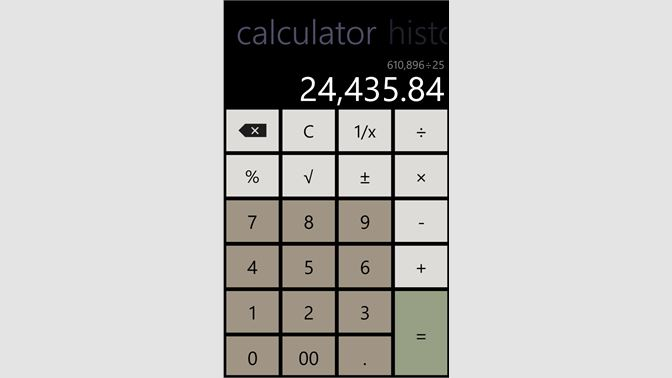 Get Calculator with History - Microsoft Store