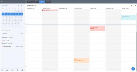 miraCal - A better calendar for Google Screenshots 1