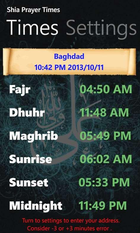 Get Shia Prayer Times Microsoft Store