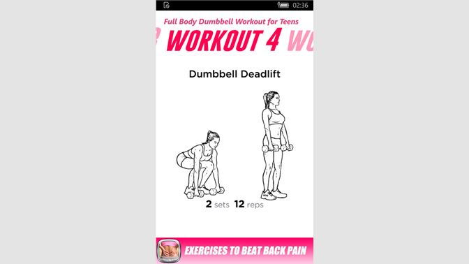 Get Full Body Dumbbell Workout for Teens - Microsoft Store