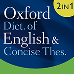 Oxford Dictionary of English and Thesaurus Logo