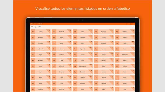 Obtener elementos la tabla peridica microsoft store es mx elementos la tabla peridica urtaz Image collections