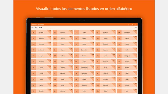 Obtener elementos la tabla peridica microsoft store es cl captura de pantalla urtaz Images