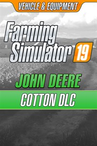 Carátula para el juego Farming Simulator 19 - John Deere Cotton DLC de Xbox 360