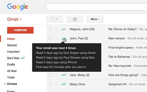 Mailtrack for Gmail & Inbox: Email tracking Screenshot