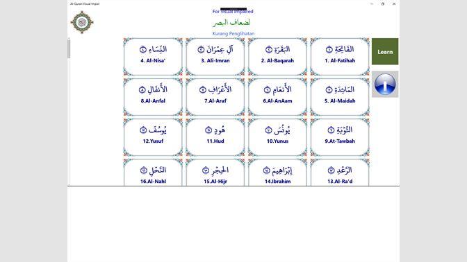 Get Al-Quran Visual Impairment - Microsoft Store