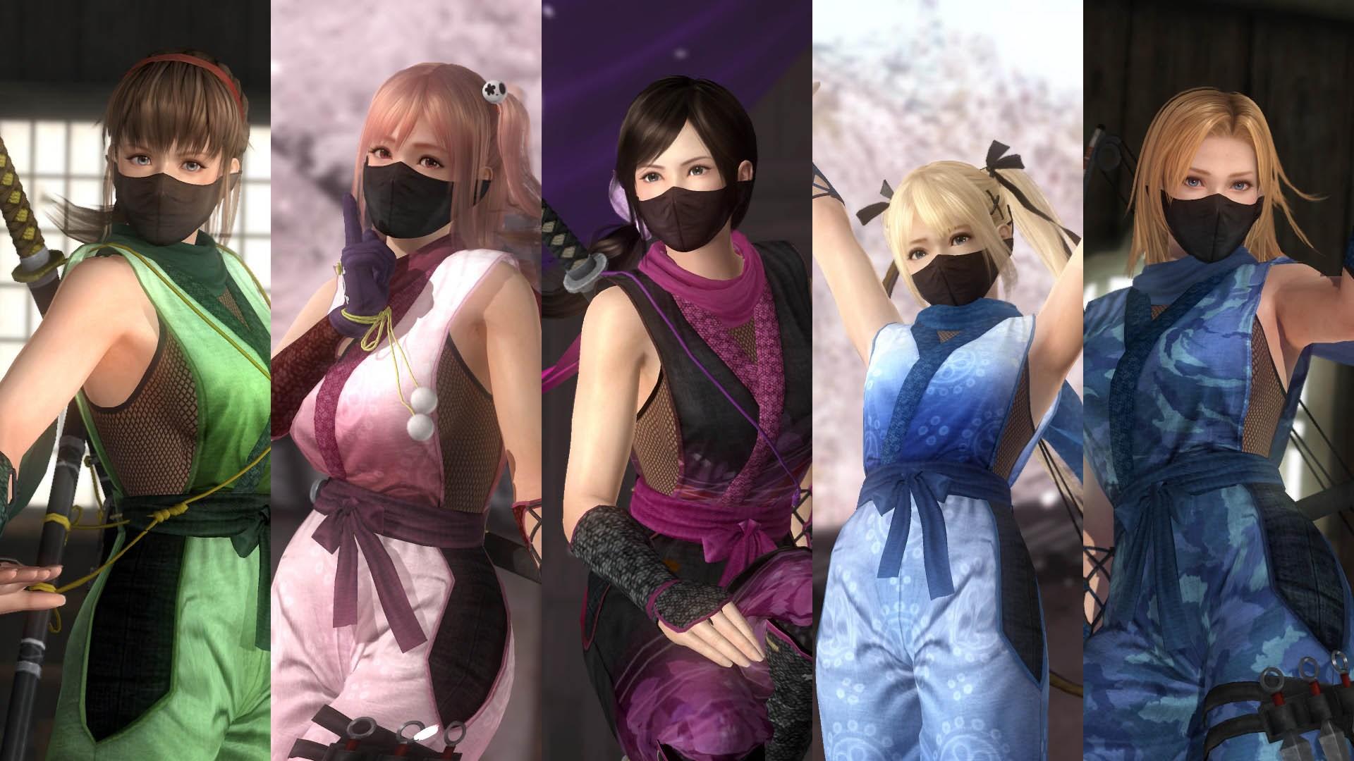 DOA5LR Ninja Clan 1 Costume Set