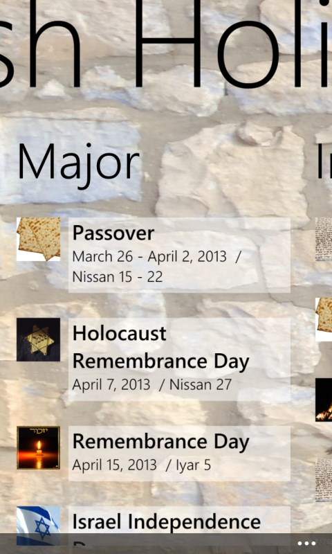 the major jewish holidays These holidays are both spoken of in leviticus chapter 23, and the reason they are so important is that they deal with the topic of atonement whether religious or not, most jewish people attend synagogue on rosh hashanah and yom kippur (they are similar to easter and christmas for nominal christians.