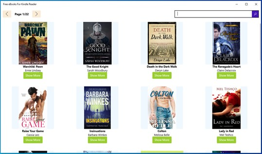 Free eBooks For Kindle Reader screenshot