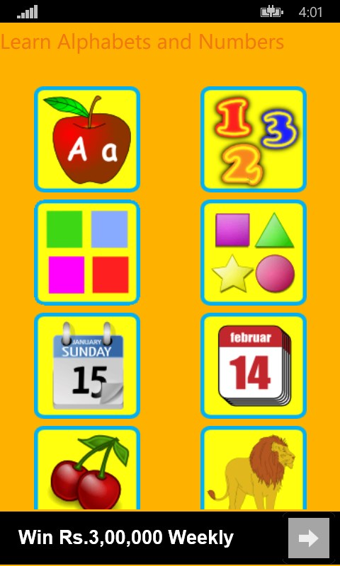 Learn Alphabets and Numbers