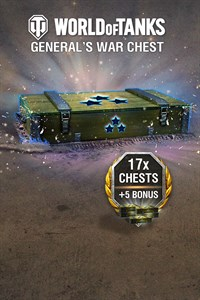 World of Tanks - 17 General's War Chests + 5 Bonus!