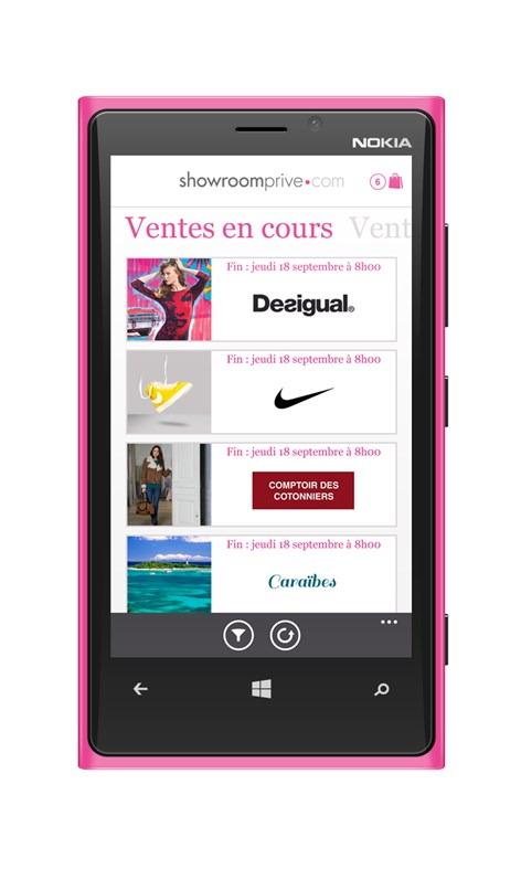 vente privee app windows 8