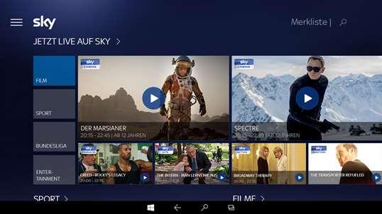 Sky Ticket App Windows 10