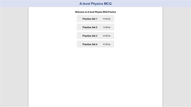 Get A-level Physics MCQ - Microsoft Store