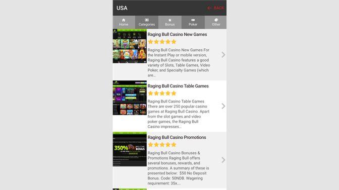 Get Raging Bull Casino Mobile Guide - Microsoft Store