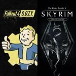 Skyrim Special Edition + Fallout 4 G.O.T.Y Bundle Logo