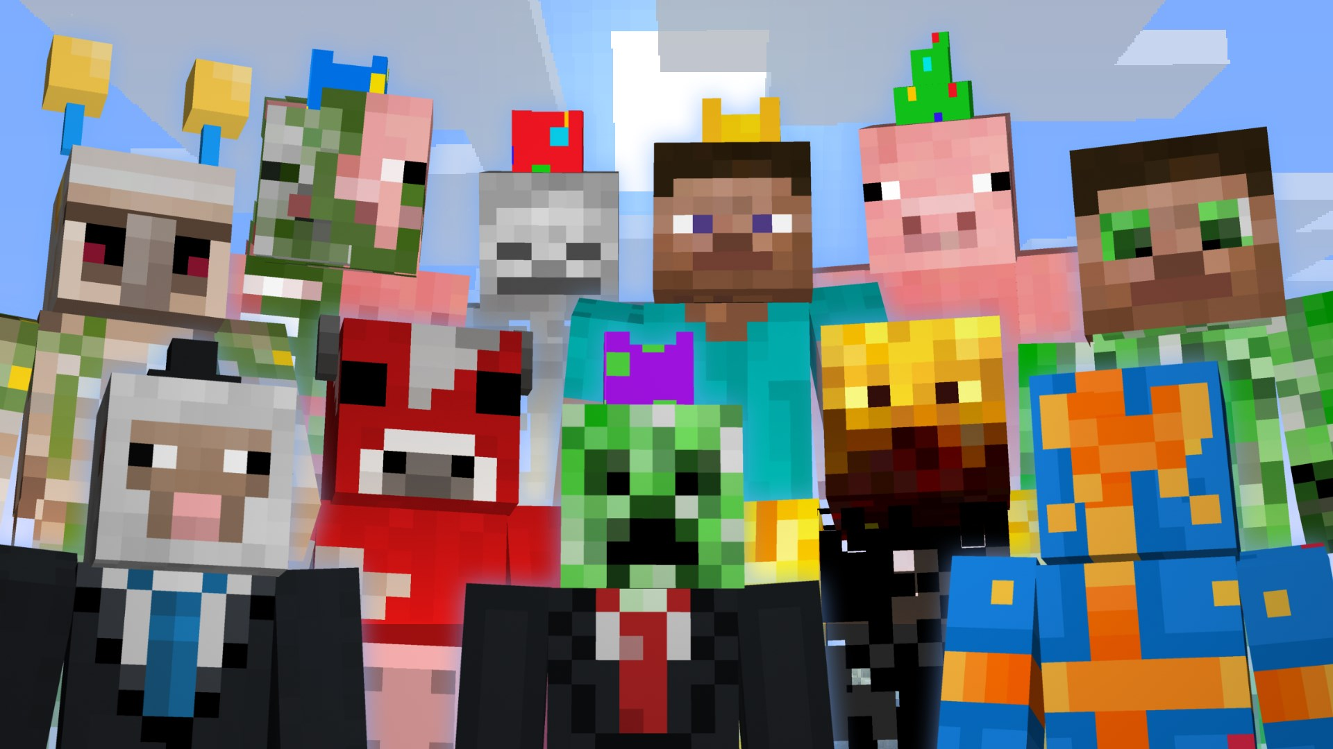 Minecraft 1st Birthday Skin Pack