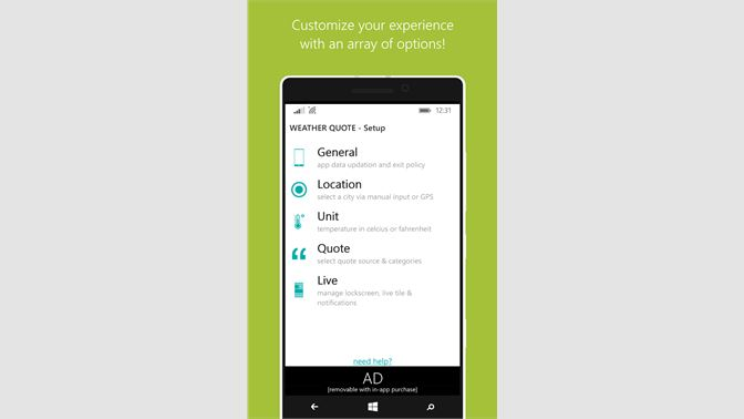 Get Weather Quote - Microsoft Store en-BB
