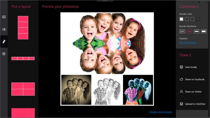Get photo booth pro microsoft store screenshot build custom photo strips and share on facebook twitter or onedrive solutioingenieria Gallery