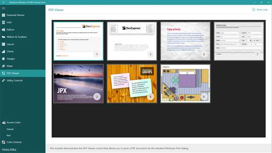 DevExpress Windows 10 UWP Controls Demo PC Download Free