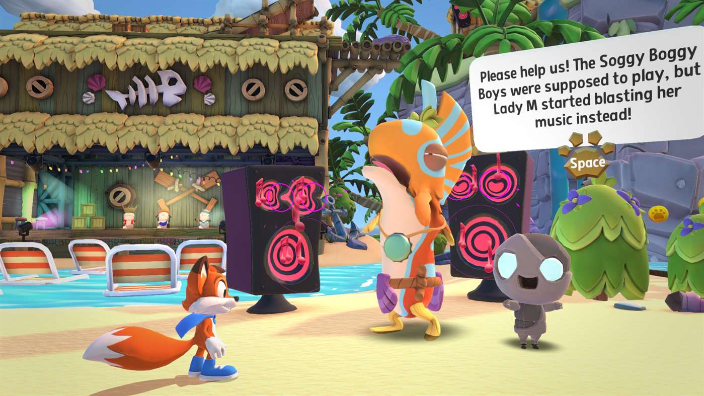 Super Lucky's Tale Gilly Island Screenshot