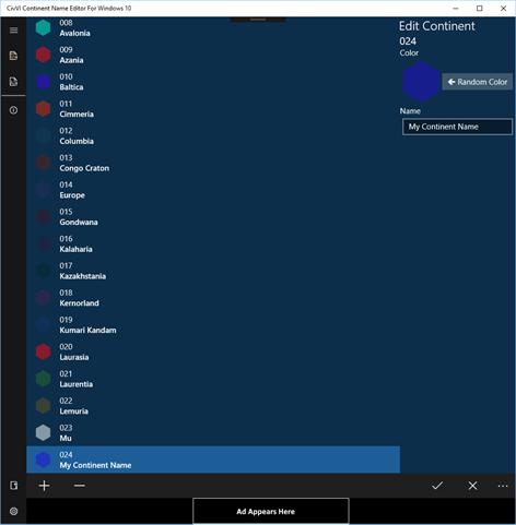 Civ VI Continent Name Editor Screenshots 2