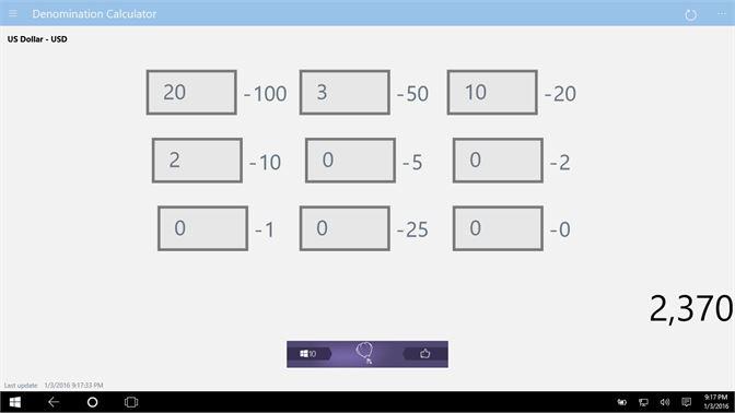 Get Denomination Calculator Microsoft Store
