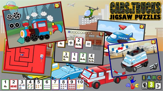 Get Preschool Car Truck and Engine Jigsaw Puzzle Shapes