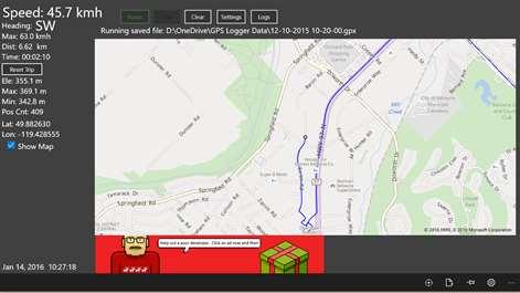 GPS-GPX Logger Screenshots 2