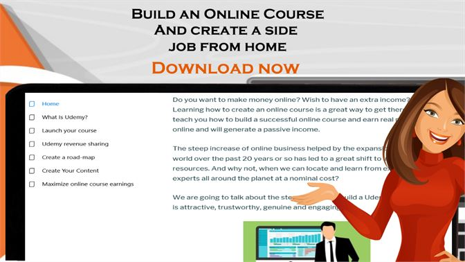 Get Earn extra income online: Learn to build online course with udemy -  Microsoft Store
