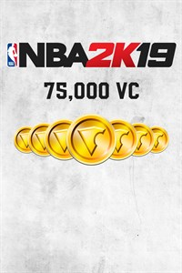 Carátula del juego NBA 2K19 75,000 VC