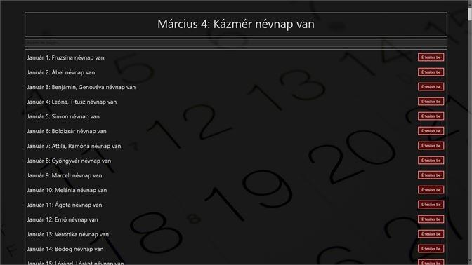 névnap naptár program Névnap Naptár megvásárlása – Microsoft Store hu HU névnap naptár program